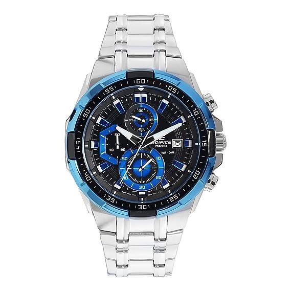 73ae9c0ed28d Casio Reloj Cronógrafo para Hombre de Cuarzo con Correa en Acero Inoxidable  EFR-539D-1A2VUEF  Amazon.es  Relojes