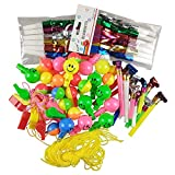 60PCS Plastic Assorted Party Musical Blowouts Whistles Neon Necklace Whistles Fringed Noisemaker by CSPRING