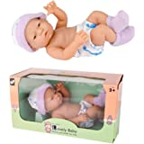 JIANGfu 【Baby Doll】Cuddle Babies Adorable Doll Collection 9.5 Inch Baby Doll Soft Body Baby Doll (Random, A)