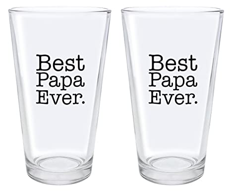Great Christmas Gifts.Christmas Gifts For Papa Best Papa Ever Fathers Day Gifts For Papa Gift Pint Glasses 2 Pack Pint Glass Set Clear