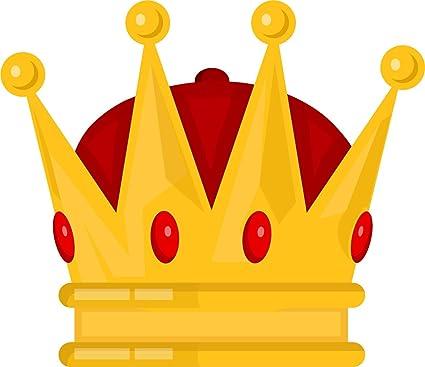 amazon com pretty shiny royal king crown cartoon vinyl sticker 8 rh amazon com crown cartoon gold crown cartoon drawing