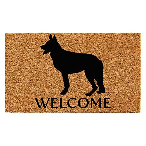(Calloway Mills 102982436 German Shepherd Doormat, 2' x 3', Natural/Black)