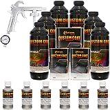 Custom Coat PEWTER METALLIC 6 Liter Urethane Spray-On Truck Bed Liner Kit with (FREE) Custom Coat Spray Gun with Regulator