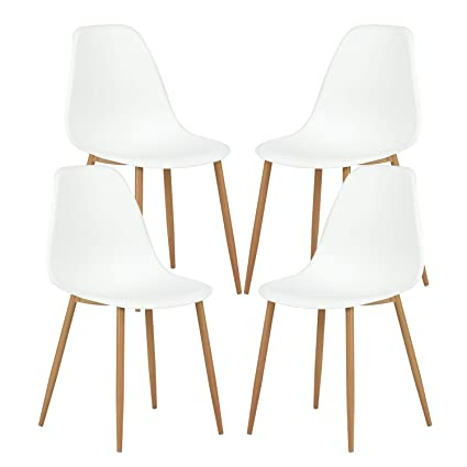 4 chair living room style west indies greenforest dining chairs set of 4 eames modern style metal wood legs kitchen chair amazoncom