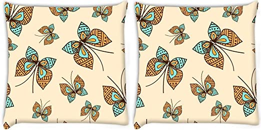 Snoogg Pack De 2 En forma de mariposa Digitalmente Impreso ...