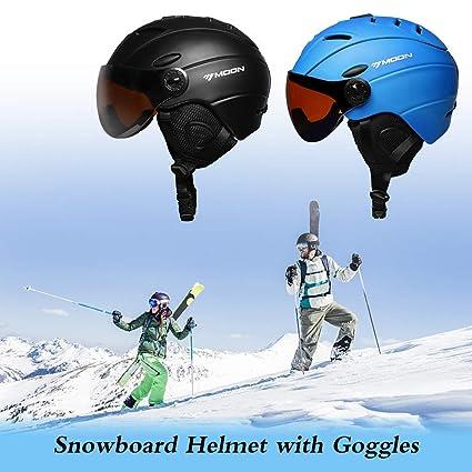 Festnight Esquí Casco de Snowboard Casco de Seguridad ...
