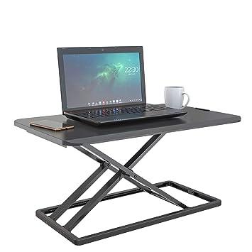 c20c0ffdfbca Standing Desk Preassembled Slim Design Height Adjustable Sit Stand Up Desktop  Desk Riser Fit Two Monitors