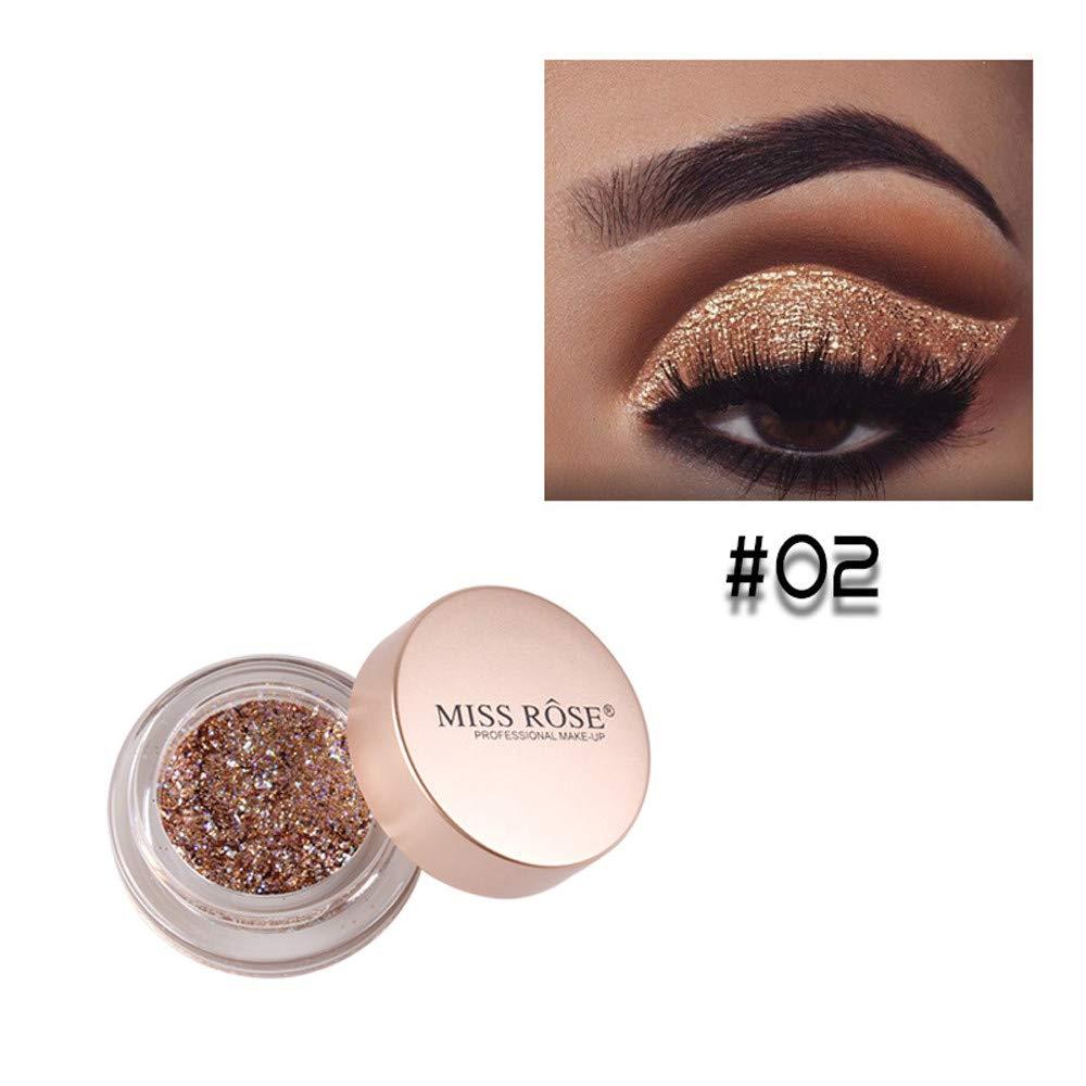 ❤️ Sunbona Clearance Sale MISS ROSE Shimmer Glitter Eye Shadow Powder Palette Matte Eyeshadow Cosmetic Makeup (B)