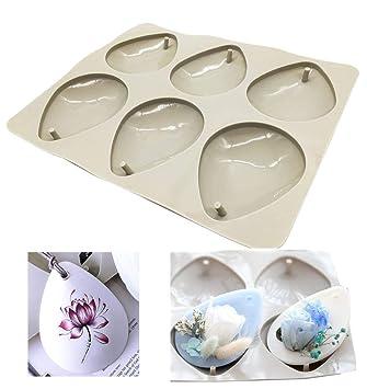 Moldes de silicona para hacer joyas artesanas de resina, con orificio Drop: Amazon.es: Hogar