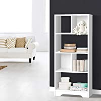 Artiss 6 Cube Storage Units Wooden Display Shelf Bookcase White - 121(H) x 48(L) x 24(W) cm