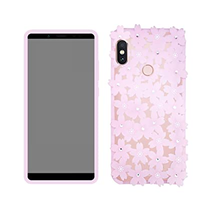new arrival 5dae0 e3aa4 Case Creation Vivo V9 Flowers Case,Cute 3D Elegant Girls Soft Mobile Cases  Back Cover for Vivo V9 / VivoV9 2018 - Baby Pink Shade
