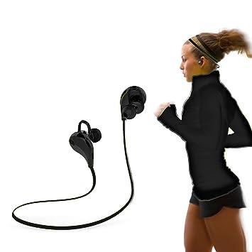 Auriculares Eestéreo Bluetooth 4.0 para Correr, Cascos Deportivos y Resistente al Agua y Sudor.