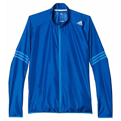 adidas Running Performance Blue/Light Blue/Gray Full Zip Wind Jacket (X-Large)