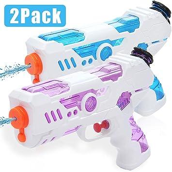 Zaloife 2 Pack Pistola de Agua,Juguetes para Niños Pistola de ...