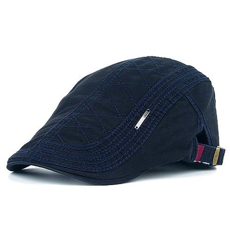 Kuyou Cappello Berretto Gatsby Flat Cap Coppola Invernale Unisex (Blu navy) e56a4e8e2cdb