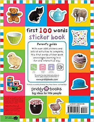 first 100 animals sticker book over 500 stickers