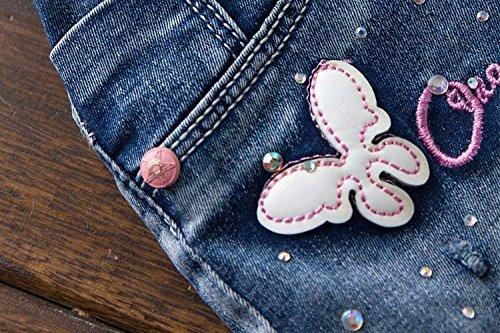 YAO Summer Little Girls Cotton Denim Bib Braces Rompers (4T) by YAO (Image #4)