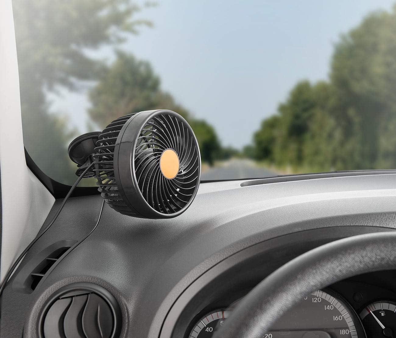 Ventilateur 12/W/// 24/V avec vitesse r/églable en continu VT-70.car Lescars