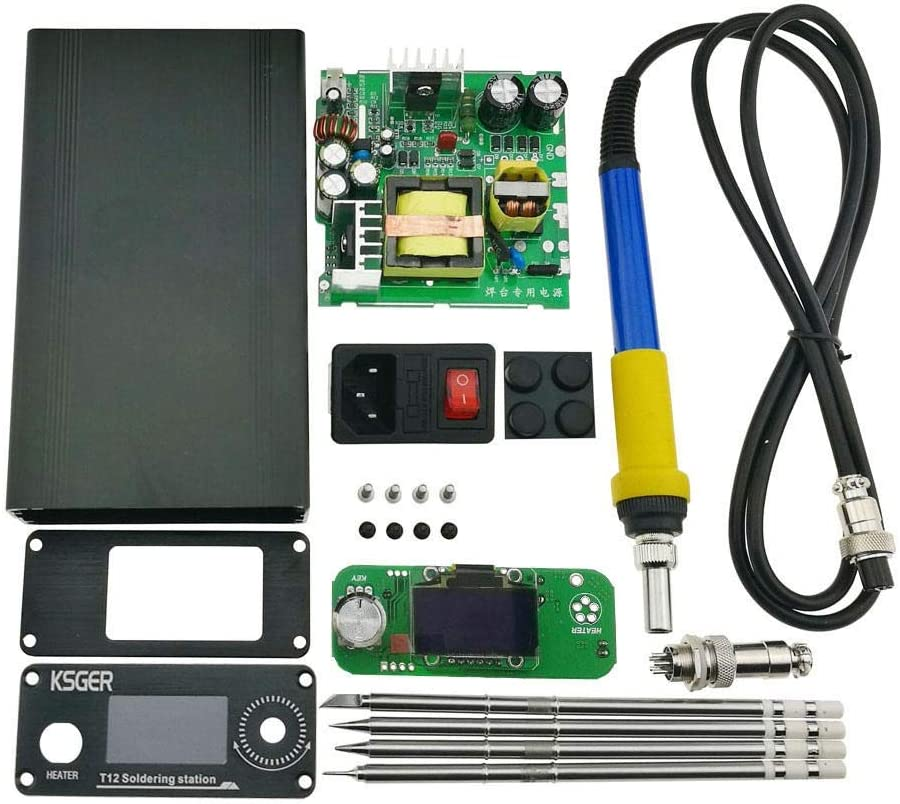110//220V Soldering Iron Station Temperature Control T12 Tip for Hakko Handle