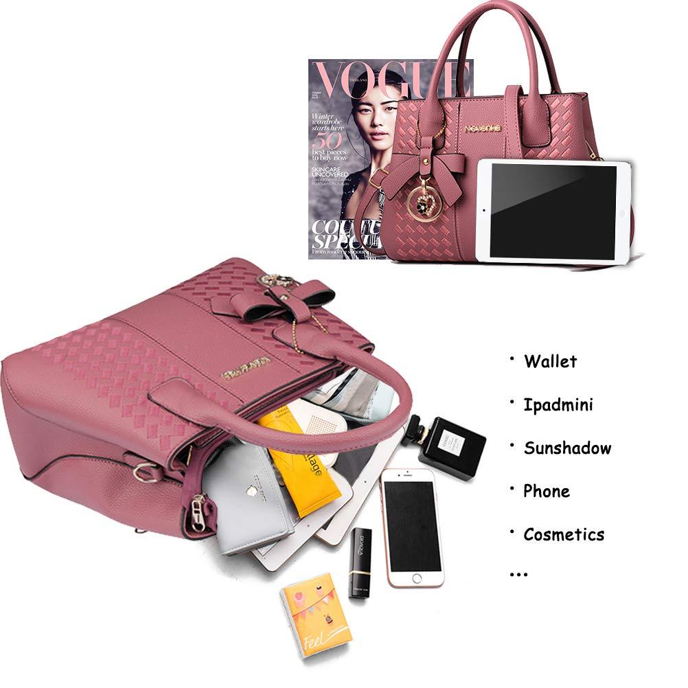Handbags for Women Fashion Ladies Purses PU Leather Satchel Shoulder Tote Bags by Jeniulet (Image #3)