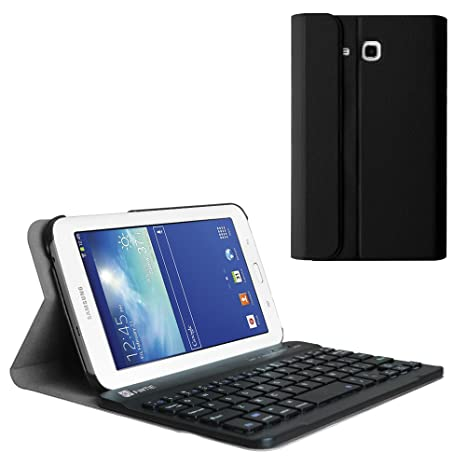 new arrival 7a019 3023a Fintie Keyboard Case for Samsung Galaxy Tab E Lite 7.0, Smart Slim Shell  Stand Cover with Detachable Wireless Bluetooth Keyboard for Galaxy Tab E  Lite ...