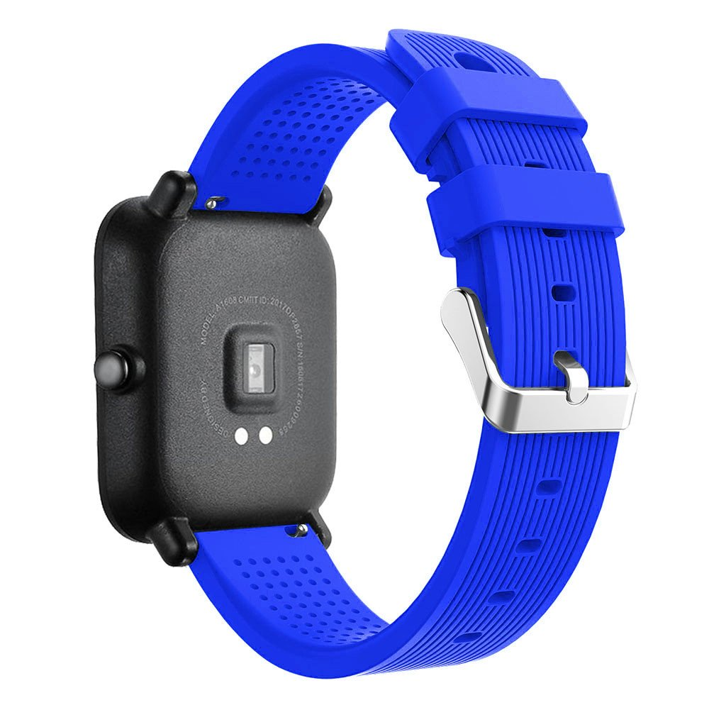 iumei for Huami Amazfit Bip Watch Band, Sport Replacement Soft Silicone Strap Bracelet Bands Wirstband for Huami Amazfit Bip Watch (Blue)
