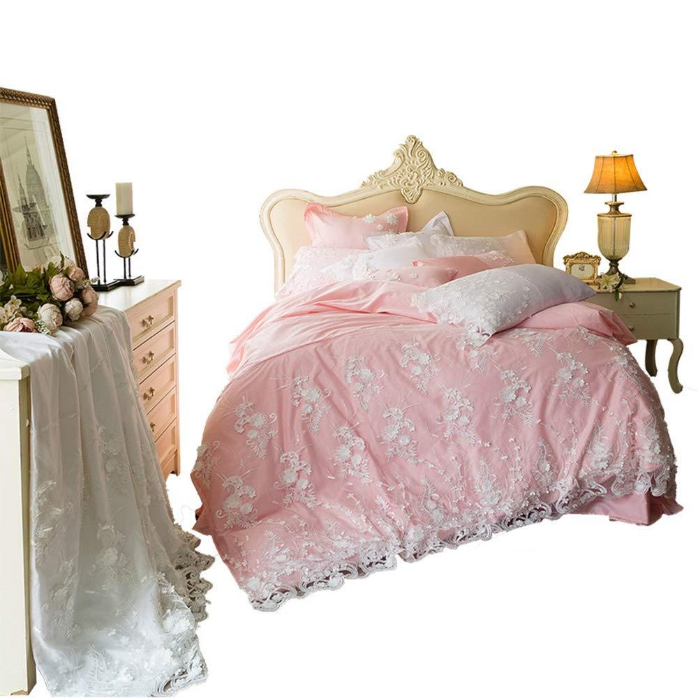 Shioya house レースの寝具コットン7ピースコットンキルトカバーシートピンクの王女のスタイルコットンABの顔バレンタインデー/誕生日/記念日最高の贈り物高精度のサテン吸湿性 抗アレルギー抗菌消臭がお手入れ簡単耐久性すべての季節に適して ご愛顧ありがとうございました (Size : S) B07R1HYBVS  Small