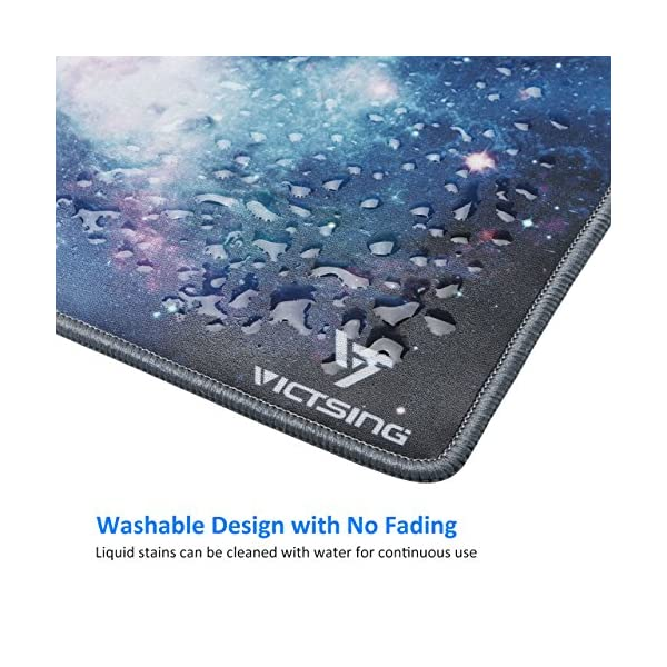 VicTsing Gaming Mouse Pad with Stitched Edges, Premium-Textured Mouse Mat Pad, Non-Slip Rubber Base Mousepad for Laptop…