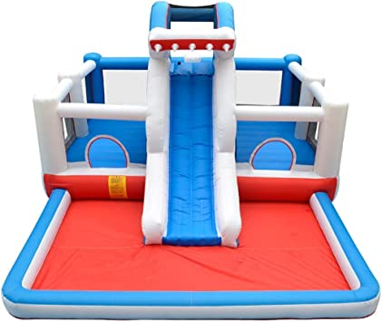 Xiaotian Castillo Inflable Juguetes Deportivos Inflables para niños Trampolín Área de Juegos para niños Familia Patio de Juegos Jardín: Amazon.es: Deportes y aire libre