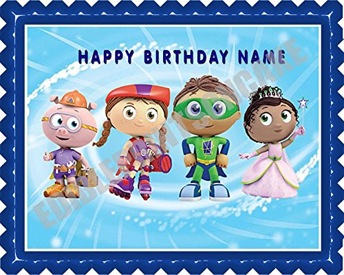 "SUPER WHY (2) - Edible Cake Topper - 10"" round"