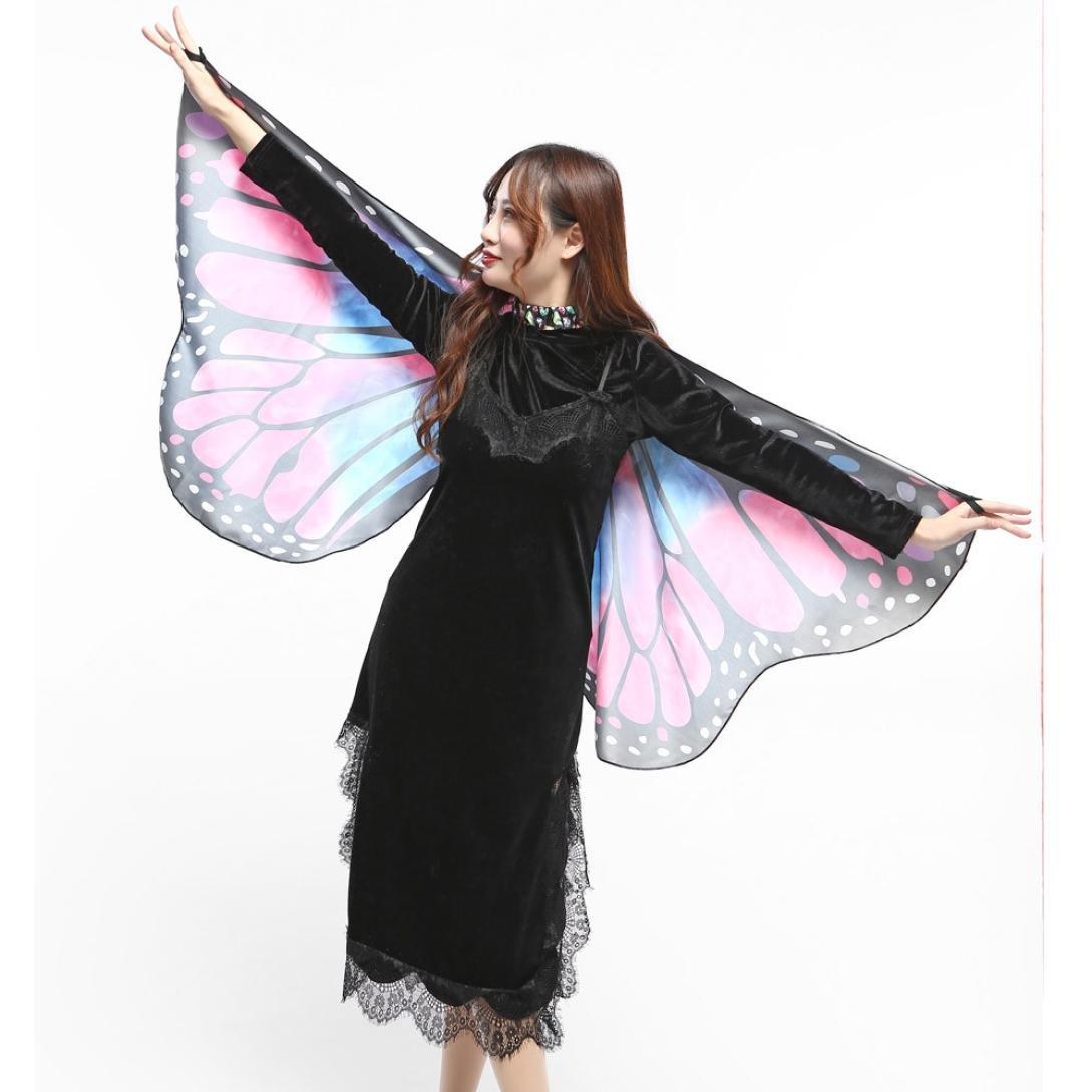 VENMO Disfraz de Chal de Alas de Mariposa Adulto Chica Mujer Bufanda Ninfa Pixie Poncho Traje Accesorio (Multicolor): Amazon.es: Juguetes y juegos