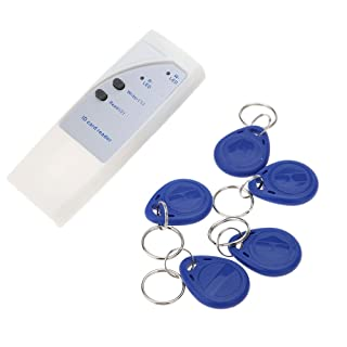 KKmoon RFID Lector de Tarjeta ID 125Khz Copiadora Escritor Duplicadora 5 Tarjetas de Escritura + 5 Llaveros