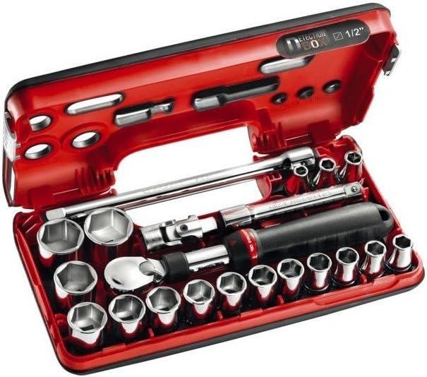 Coffret cliquet extensible 1//2 21 outils Facom