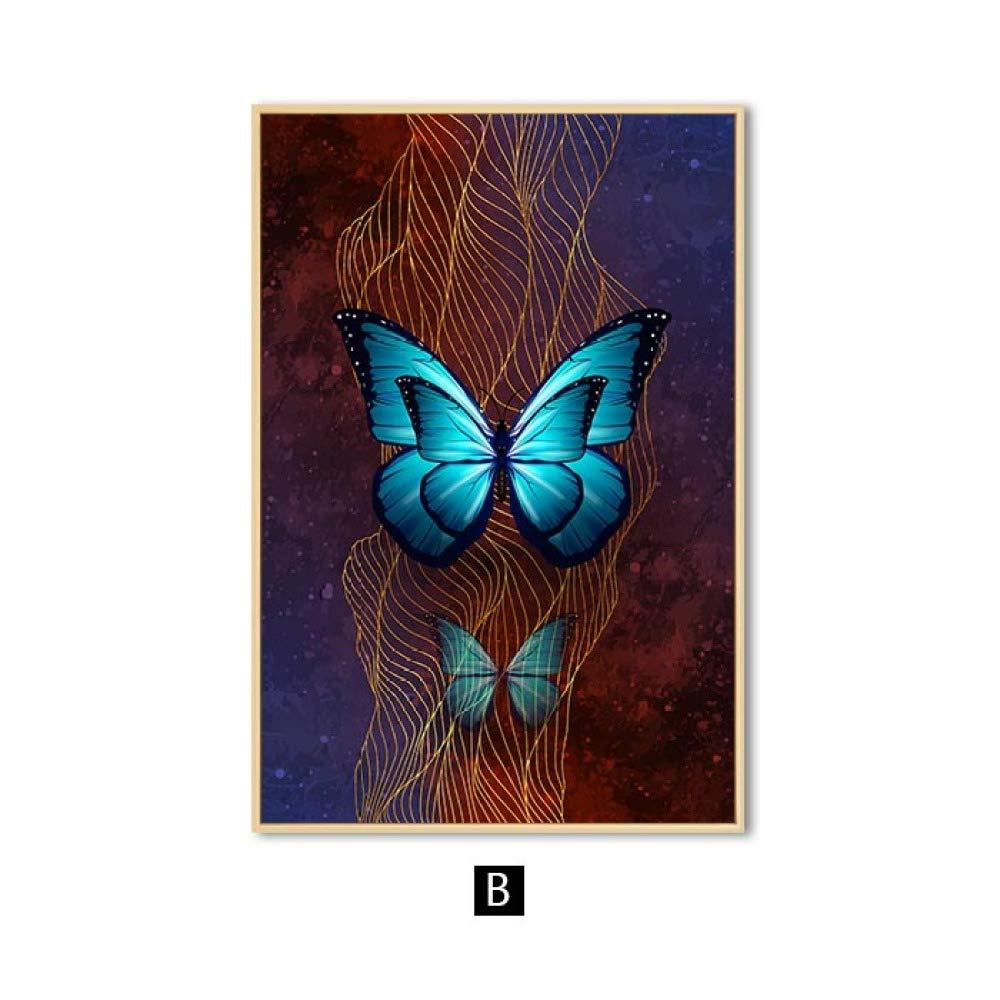 zgmtj Arte Abstracto de la Pared Arte de la Lona de la Mariposa ...