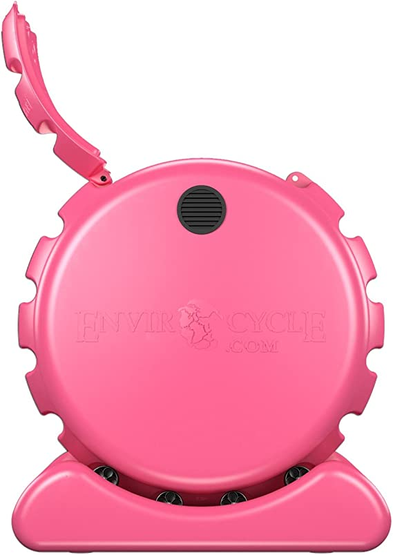Envirocycle The Most Beautiful Composter in The World in Pink, Made in The USA, Food Safe, BPA and Rust Free, No Assembly Required, Composting Tumbler ...