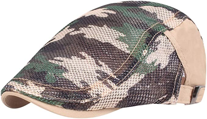 Fuibo - Gorra Plana de Camuflaje para Hombre y Mujer, con diseño ...