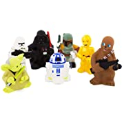 Disney Parks Exclusive Star Wars Set of 7 Character Squeeze Bath Tub Pool Toys