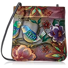 Anuschka Hand-Painted Leather BB Mini Cross-Body Bag