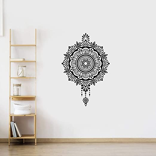 pegatinas decorativas pared Yoga Sticke Pattern Lotus Decal ...