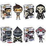 Overwatch Tracer, Reaper, WidowMaker, Winston 6-Inch Pop! Vinyl Figures Set of 4