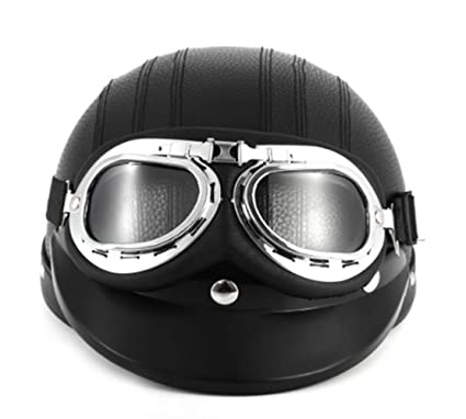 Amazon.com : Black Synthetic Leather vintage Motorcycle ...