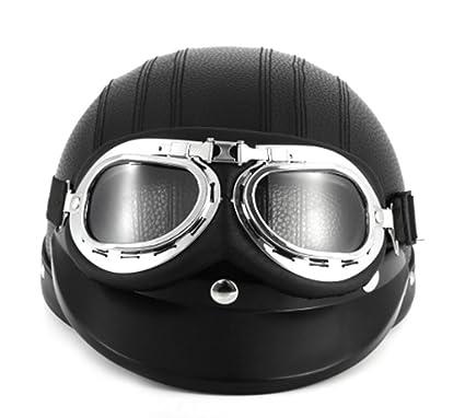 Amazon.com : Black Synthetic Leather vintage Motorcycle ...