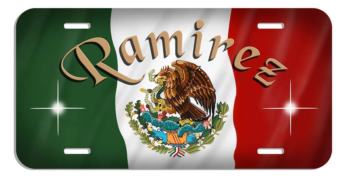 Amazon.com: Mexican Flag Auto License Plate Personalize ...