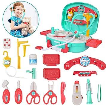 Amazon.com: Kids Doctor Kit Pretend Play Set con plataforma ...