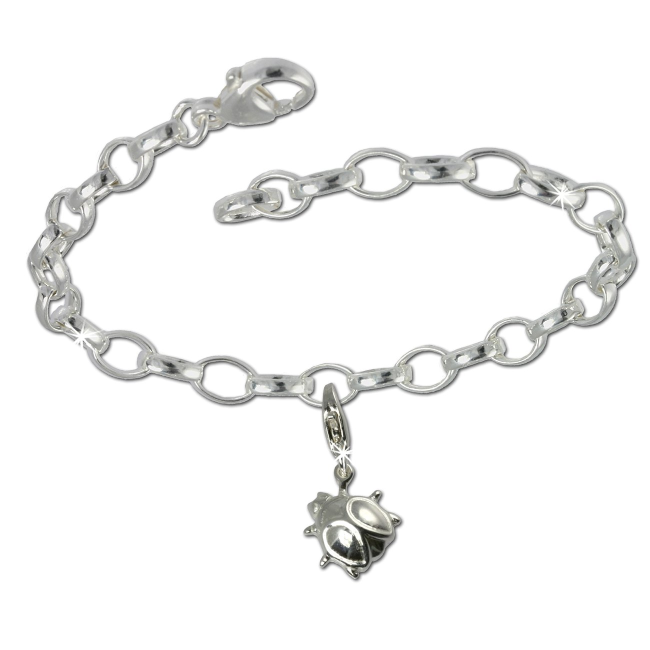 SilberDream Charms Kette Set - Marienkäfer - 925 Sterling Silber Charm Armband - FCA135 Charms Sets