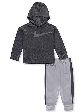 f83a6ec4a48 Amazon.com  NIKE Baby Boys  Dri-Fit 2-Piece Pants Set Outfit - Wolf ...