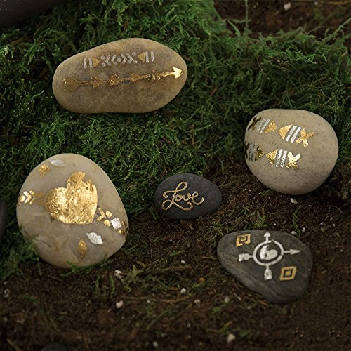 Metallic Paint Your Own  Rock Art by Horizon Group USA