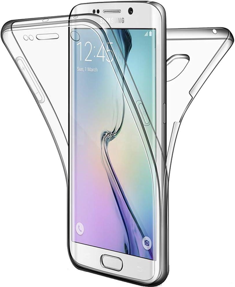 Miagon Coque pour Galaxy S7,360 Degres Transparent Silicone Avant et Dur Arri/ère en Rigide Tout Le Corps Ultra Mince Souple Antichoc Housse Etui pour Samsung Galaxy S7