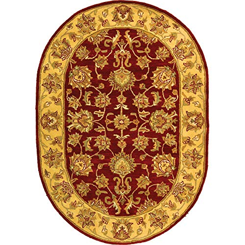 Heritage Collection Oval Rug - Safavieh Heritage Collection HG343C Handcrafted Traditional Oriental Red and Gold Wool Oval Area Rug (7'6