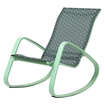 Perfect Amazon.com : Royal Garden Aluminum Sling Seat Patio Porch Deck Rocking Chair,  Chevron/Green : Garden U0026 Outdoor
